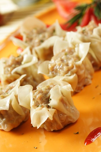 An image of a chinese dimsum dish, sometimes called shumay or siewmai : Stock Photo