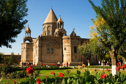 ARMENIA, YEREVAN, CATHEDRAL OF ECHMIADZIN, HEADQUARTERS OF THE ARMENIAN ORTHODOX CHURCH : Stock Photo