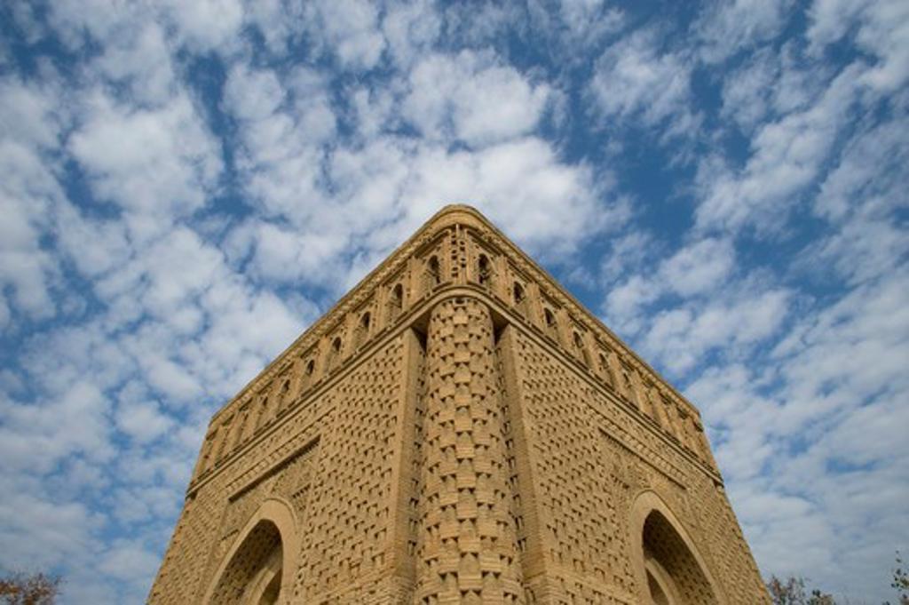 Stock Photo: 4163-12595 UZBEKISTAN, BUKHARA, ISMOIL SAMONIY MAUSOLEUM