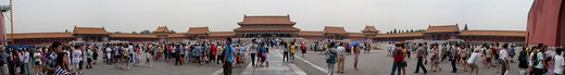Stock Photo: 4163-12650 CHINA, BEIJING, FORBIDDEN CITY, VIEW OF HALL OF SUPREME HARMONY, CROWDS