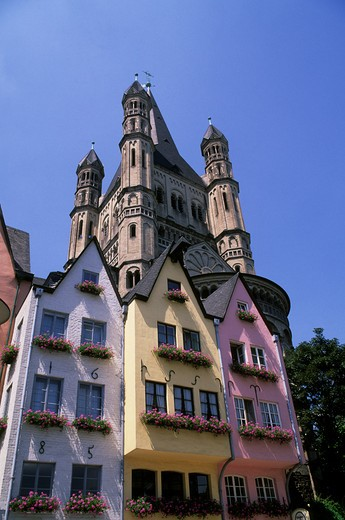 Stock Photo: 4163-13168 GERMANY, COLOGNE, OLD CITY, QUARTER OF ST. MARTIN, OLD HOUSES