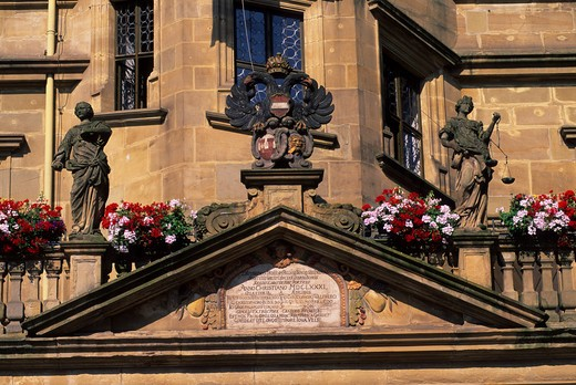 GERMANY, ROTHENBURG ON THE TAUBER, CITY HALL, DETAIL : Stock Photo