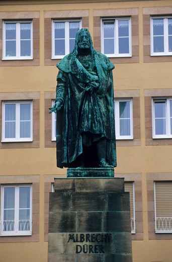 GERMANY, NUREMBERG, ALBRECHT DURER STATUE : Stock Photo