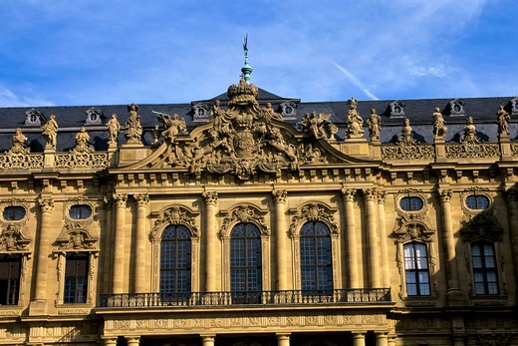 Stock Photo: 4163-14933 GERMANY, WURZBURG, RESIDENCE (UNESCO WORLD HERITAGE SITE), PRINCEBISHOPS' PALACE, DETAIL