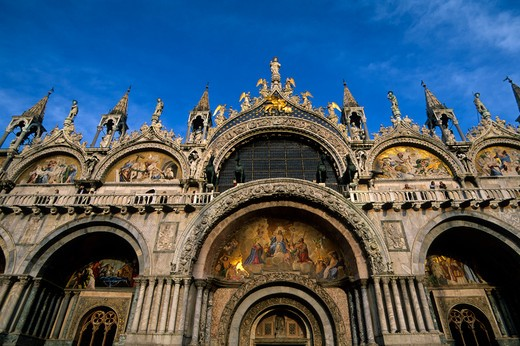 ITALY, VENICE, PIAZZA SAN MARCO, BASILICA OF SAN MARCO, DETAIL, MOSAICS : Stock Photo
