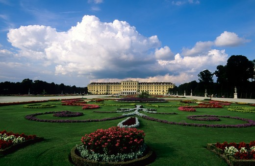 Stock Photo: 4163-15671 AUSTRIA, VIENNA, SCHONBRUNN CASTLE, FLOWERS