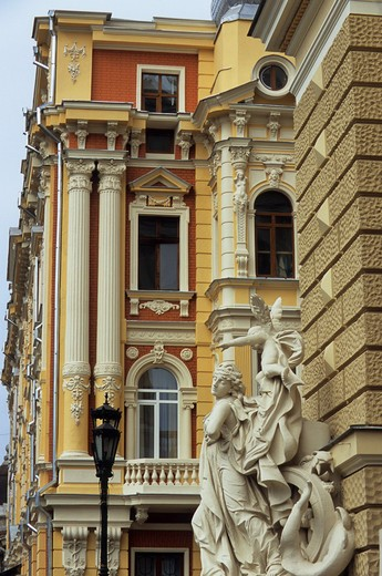 UKRAINE, ODESA, THEATRE, DETAIL, STATUE : Stock Photo