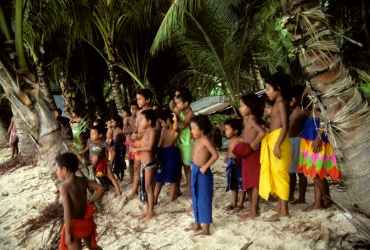 Stock Photo: 4163-16438 MICRONESIA, CAROLINE ISLS. PULAP ISLAND, NATIVE ISLANDERS