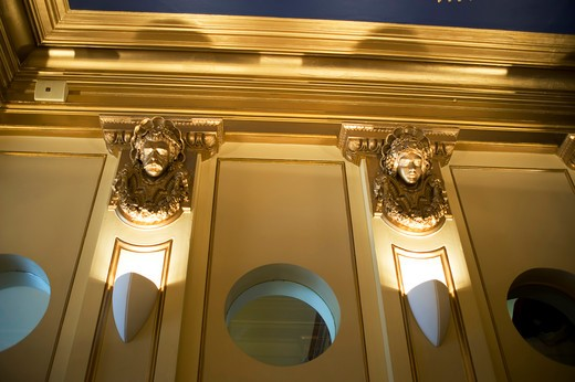 NEW ZEALAND, OCEANIA, SOUTH ISLAND, DUNEDIN, CASINO LOBBY, DETAIL : Stock Photo