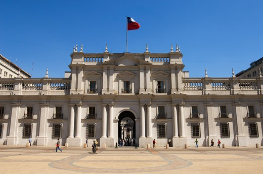 CHILE, SANTIAGO, DOWNTOWN, GOVERNMENT PALACE, PARLIAMENT, : Stock Photo