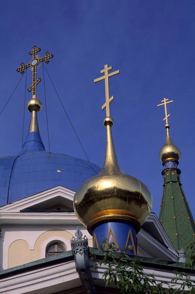 RUSSIA, SIBERIA, NOVOSIBIRSK, DESCENCION CHURCH, ONION DOMES : Stock Photo