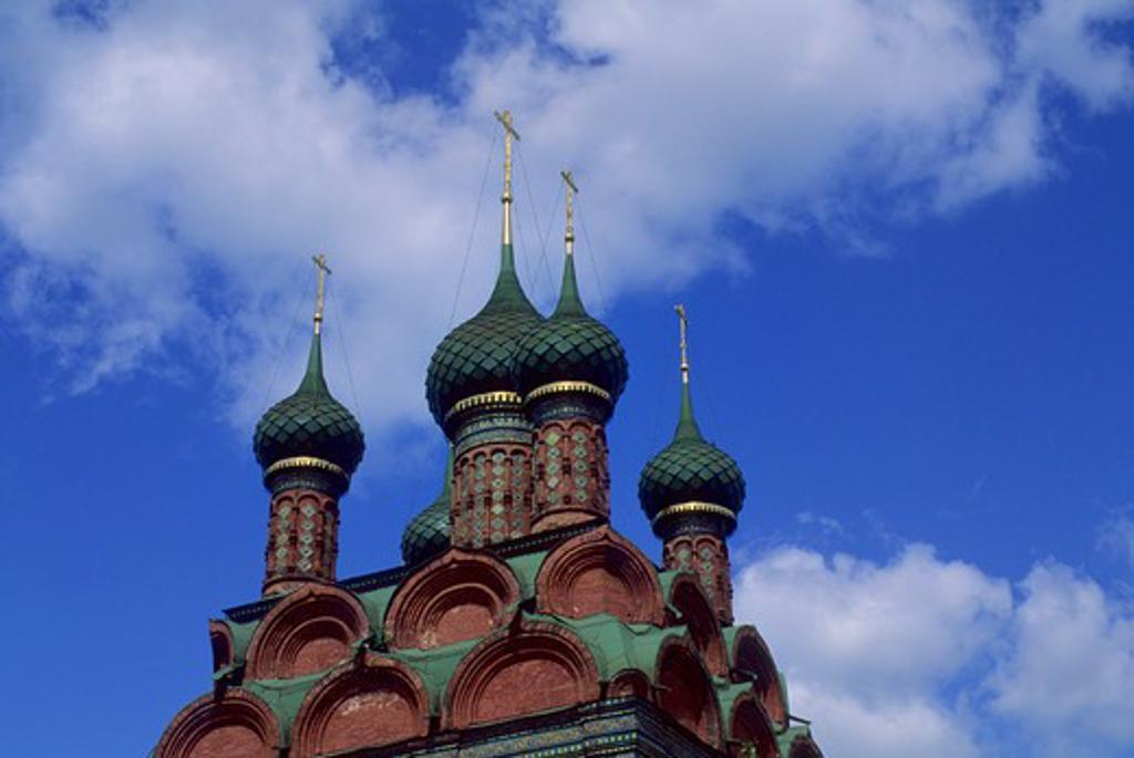 RUSSIA, YAROSLAVL, CHURCH OF THE EPIPHANY (1684-93) : Stock Photo