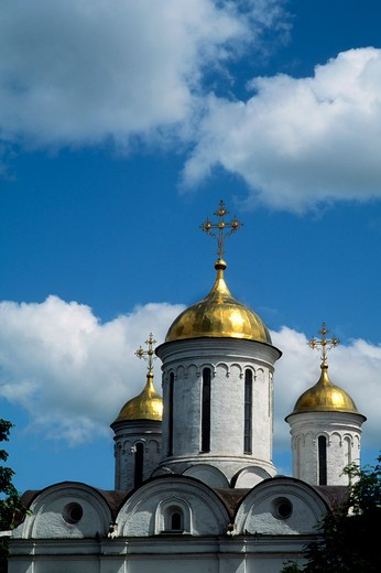 Stock Photo: 4163-19502 RUSSIA, YAROSLAVL, MONASTERY OF THE TRANSFIGURATION OF THE SAVIOR, CATHEDRAL