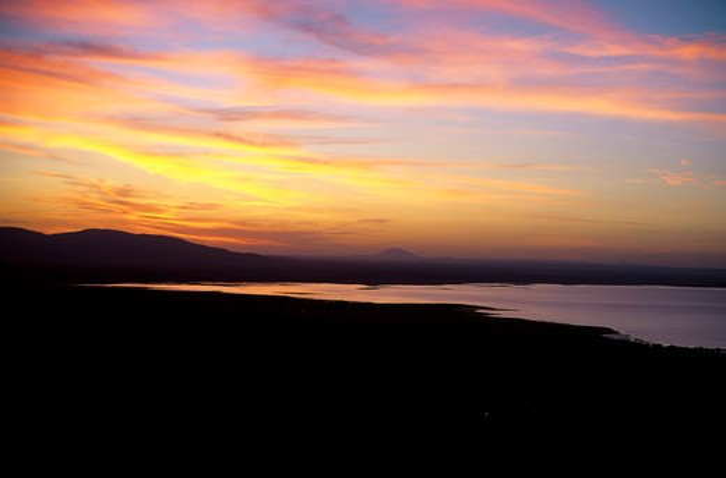 Tanzania,Great Rift Valley Lake Manyara, Sunrise : Stock Photo