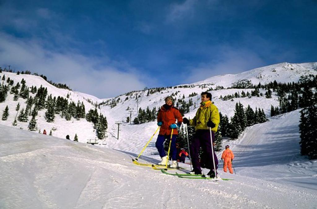 Stock Photo: 4163-20709 Canada, Canadian Rockies, Alberta, Banff National Park, Lake Louise Ski Area