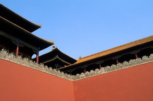 China, Beijing, Forbidden City, Walls : Stock Photo