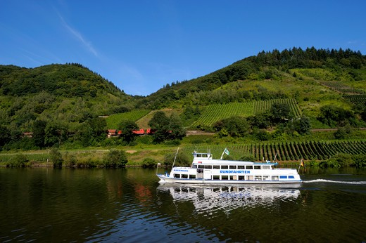 Germany, Mosel River, Excursion Boat : Stock Photo