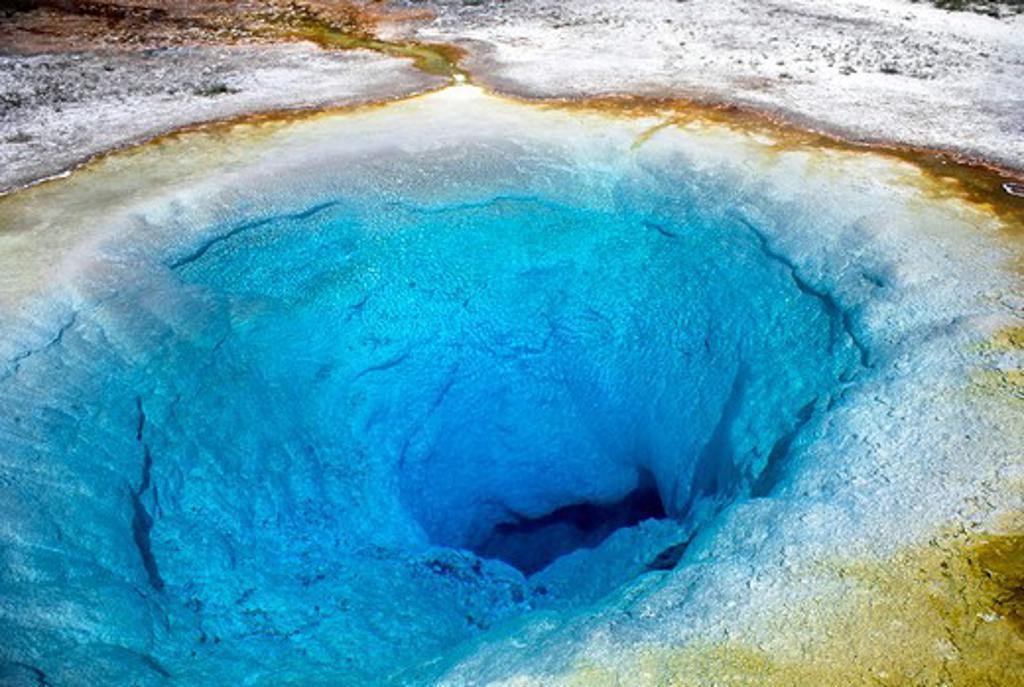 Usa, Wyoming, Yellowstone National Park, Upper Geyser Basin, Morning Glory Pool : Stock Photo