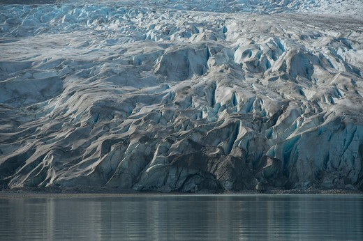 Stock Photo: 4163-21231 View of Reid Glacier in Glacier Bay National Park, Alaska, USA