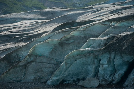 Stock Photo: 4163-21232 Close-up view of glacier face of Reid Glacier in Glacier Bay National Park, Alaska, USA