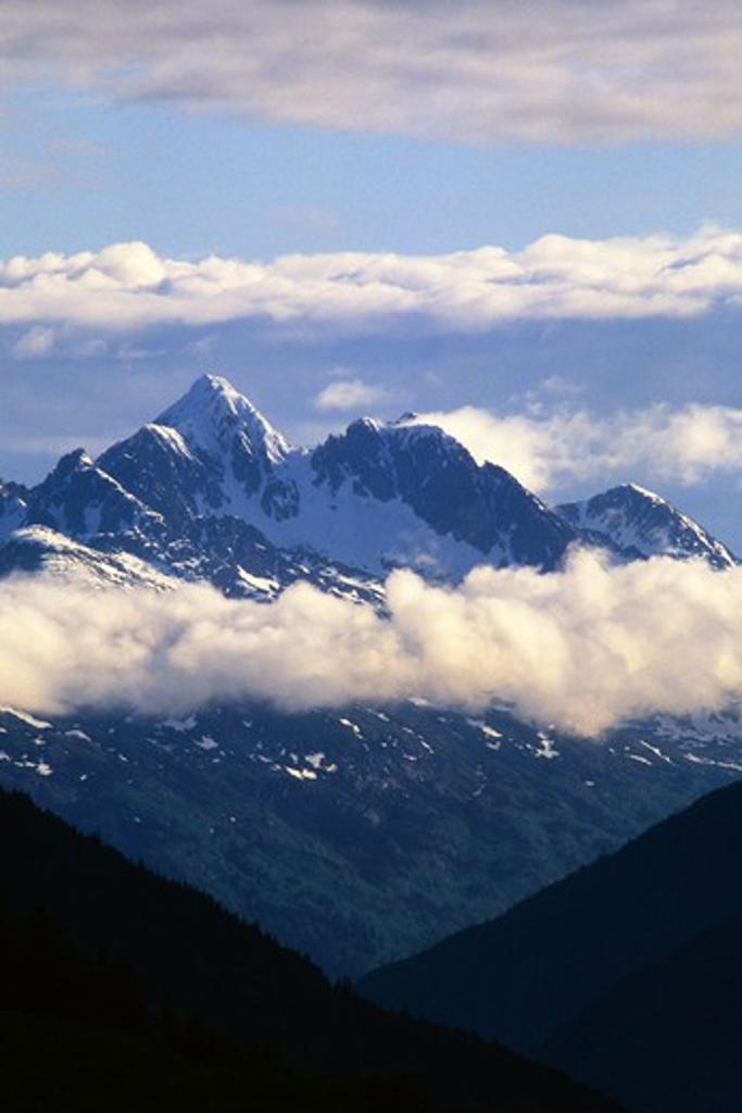 USA,ALASKA,INSIDE PASSAGE, HAINES, MOUNTAINS : Stock Photo