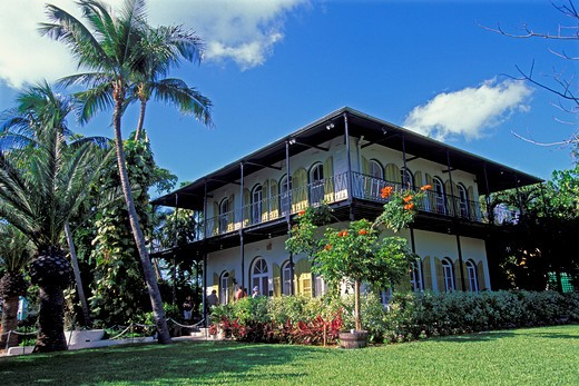 Stock Photo: 4163-3204 USA, FLORIDA, KEY WEST, ERNEST HEMINGWAY HOUSE