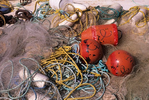 CANADA, PRINCE EDWARD ISLAND, MURRAY HARBOUR, FISHING GEAR : Stock Photo