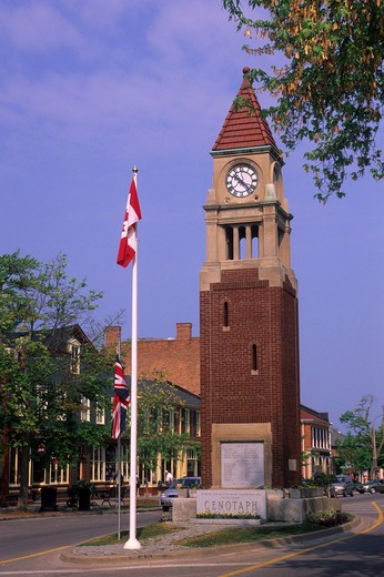 Stock Photo: 4163-4681 CANADA ONTARIO NIAGARA-ON-THE-LAKE, CLOCK TOWER