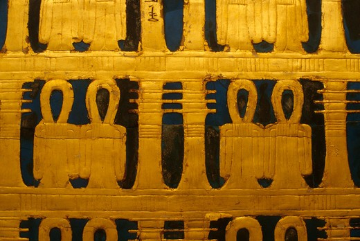 Stock Photo: 4163-7104 EGYPT, CAIRO, EGYPTIAN MUSEUM OF ANTIQUITIES, TUTANKHAMUN, DETAIL OF SHRINE