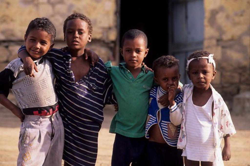 ERITREA, MASSAWA, STREET SCENE, LOCAL BOYS : Stock Photo
