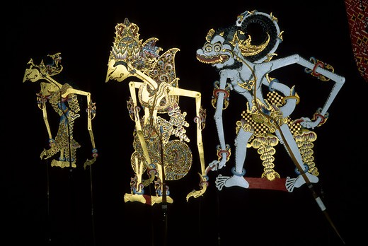 Stock Photo: 4163-9465 INDONESIA, JAVA, SHADOW PUPPETS