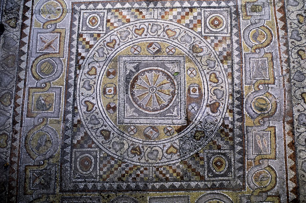 Greece, Rhodes, Hospital Of The Knights, Mosaic : Stock Photo