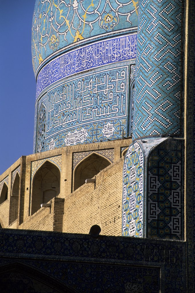 Stock Photo: 4168-10747 Iran, Esfahan, Eman Khomeni Square, Imam (Masjed-E Emam) Mosque, Tilework