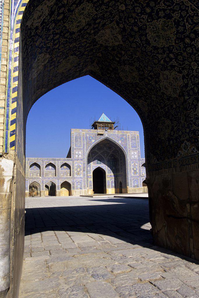 Iran, Esfahan, Eman Khomeni Square, Imam (Masjed-E Emam) Mosque, Madresseh, Tilework : Stock Photo