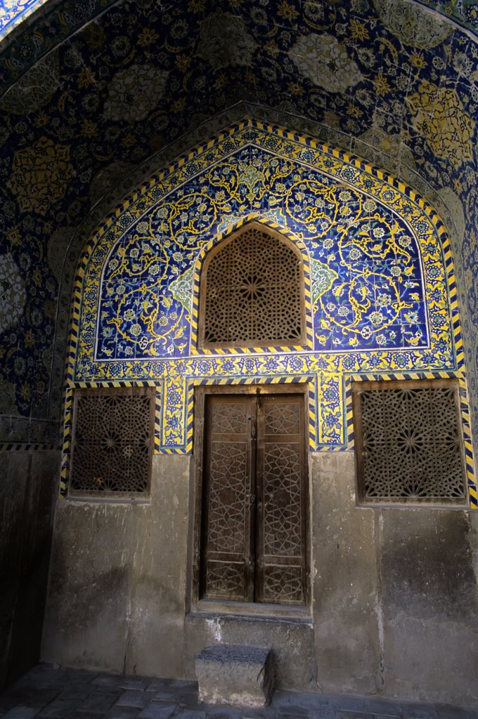 Stock Photo: 4168-10765 Iran, Esfahan, Eman Khomeni Square, Imam (Masjed-E Emam) Mosque, Door And Windows