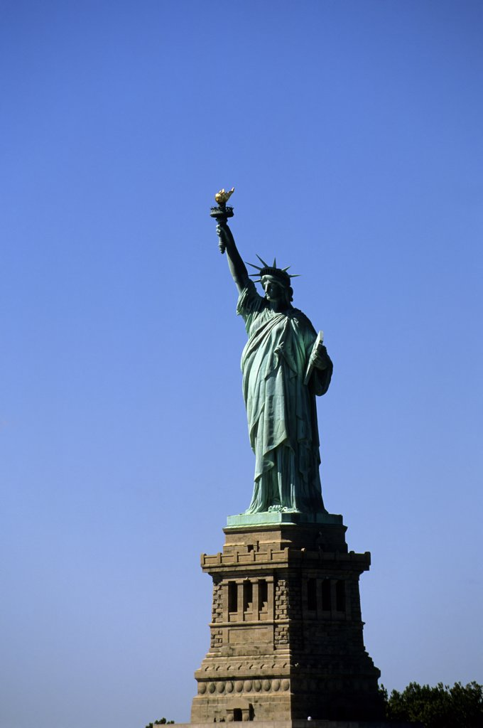 Usa, New York, Statue Of Liberty : Stock Photo
