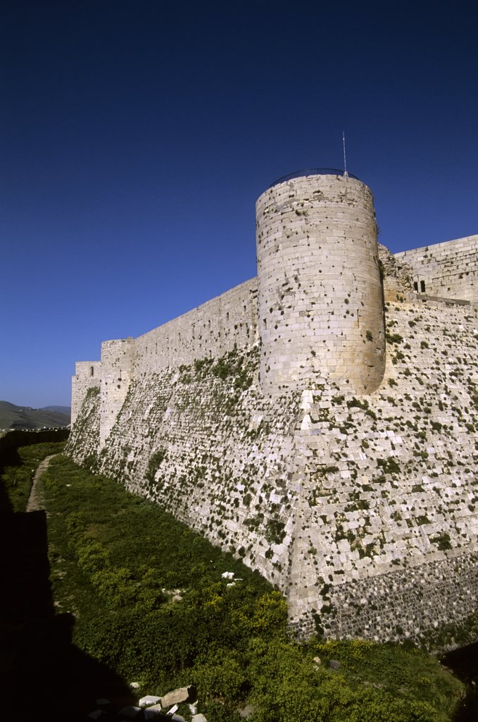 Stock Photo: 4168-11289 Syria, Near Homs, Central Syria, Crac Des Chevaliers, Castle Of The Knights, Crusaders