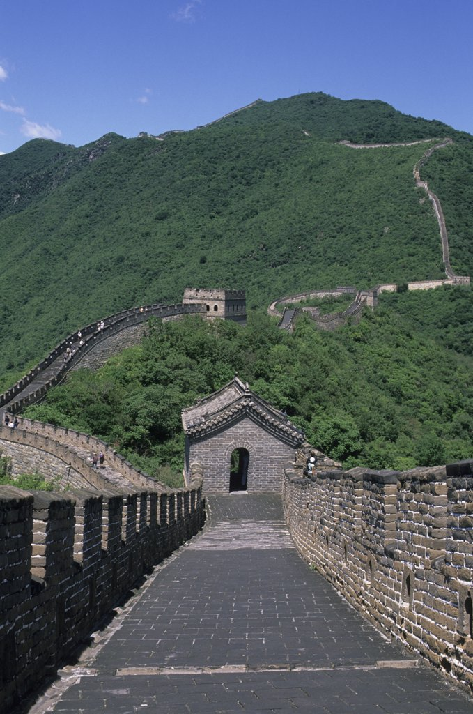 Stock Photo: 4168-11608 China, Near Beijing, Great Wall At Mutianyu
