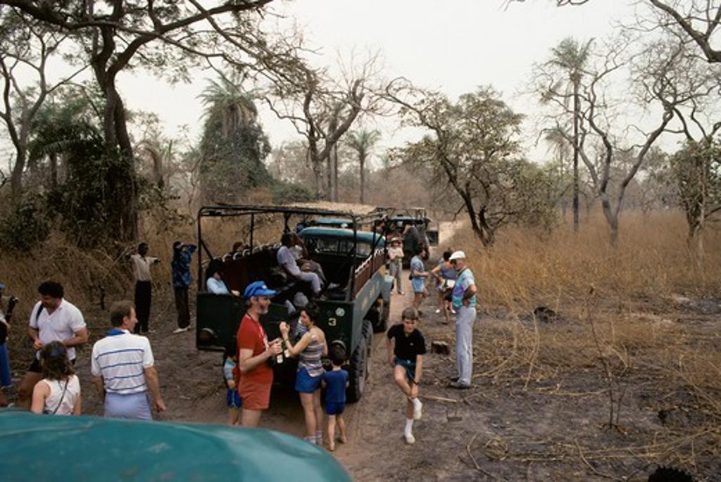 Stock Photo: 4168-1352 GAMBIA, TOURISTS ON BUSH SAFARI