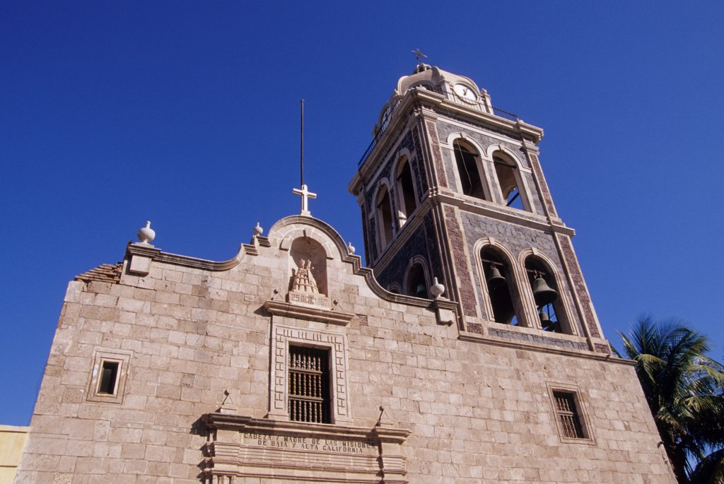 Stock Photo: 4168-13832 Mexico, Baja California, Loreto, Jesuit Mission (1697)