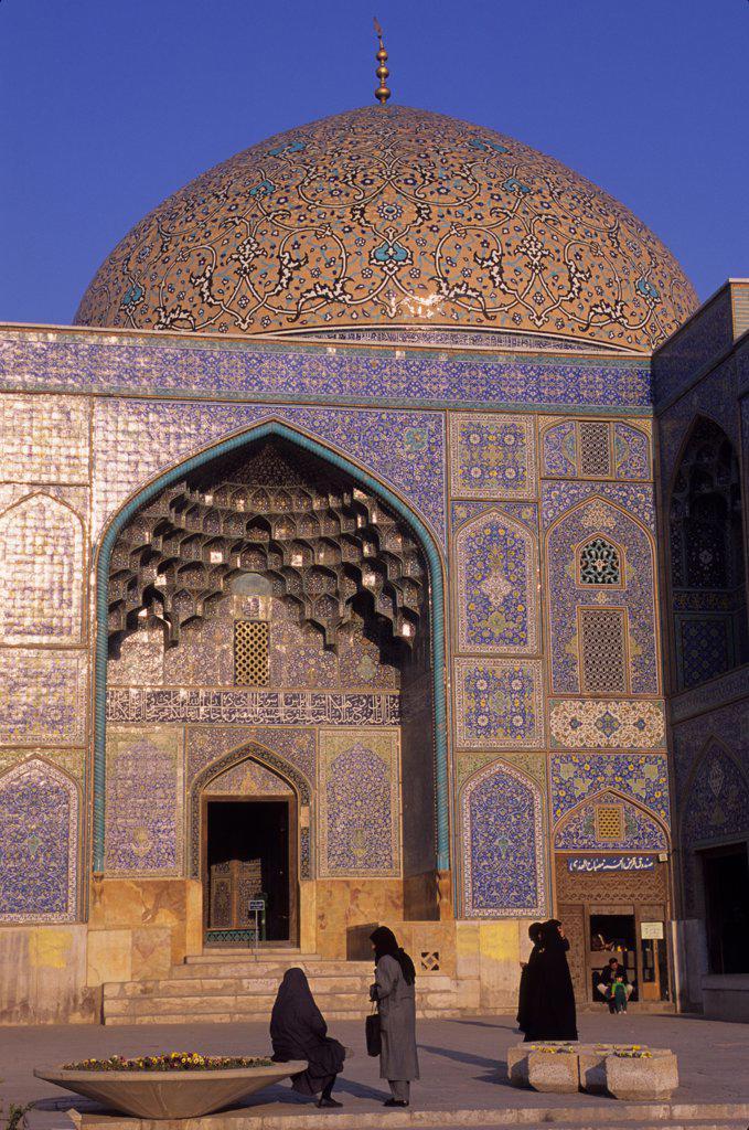 Iran, Esfahan, Eman Khomeni Square, Sheikh Lotfollah Mosque : Stock Photo