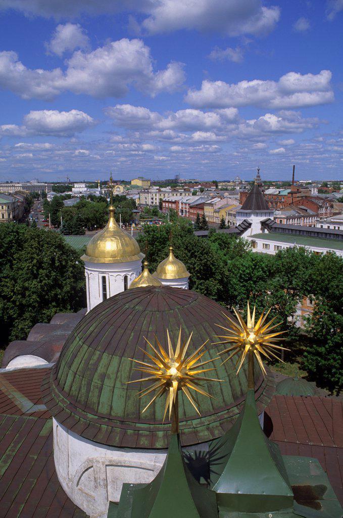 Stock Photo: 4168-14828 Russia, Yaroslavl, Monastery Of The Transfiguration Of The Savior, View Of City
