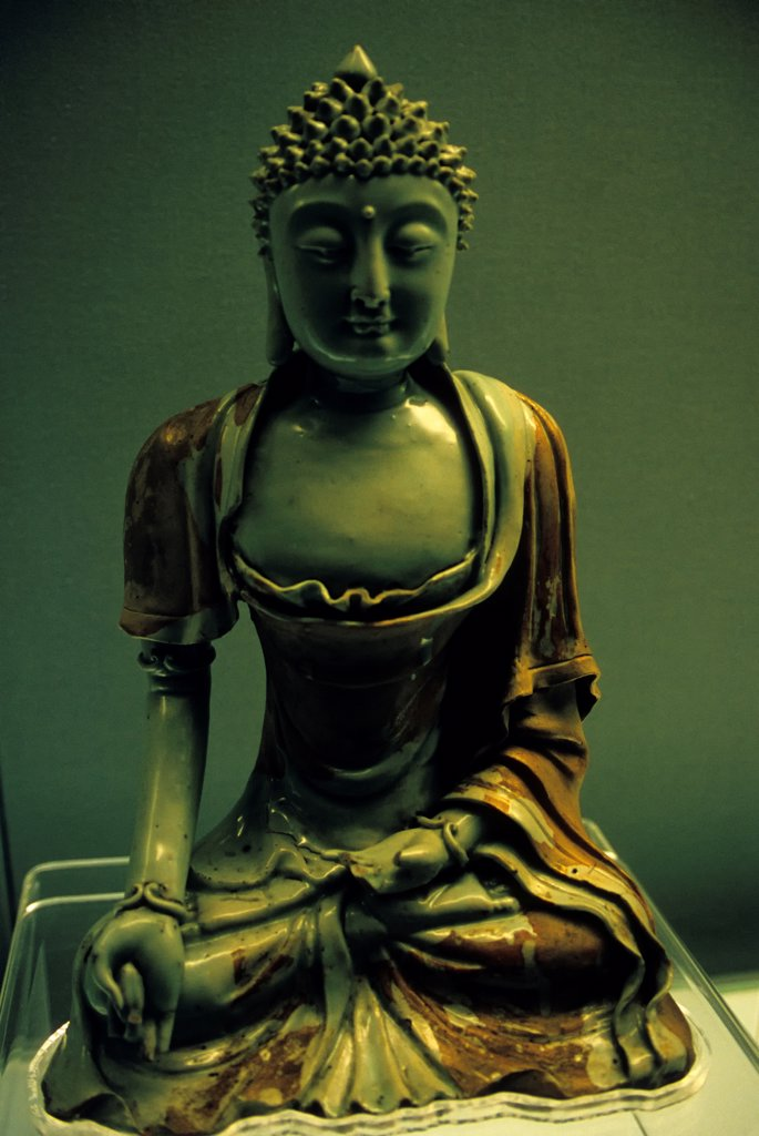 China, Shanghai, Shanghai Museum, Buddha, Yuan Dynasty : Stock Photo