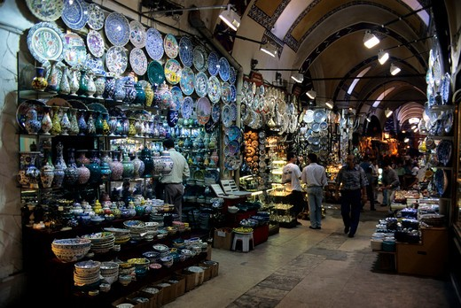 Turkey, Istanbul, Grand Bazaar, Shops : Stock Photo