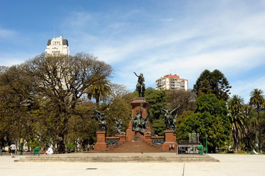 Argentina, Buenos Aires, Plaza San Martin With Monument To Jose De San Martin, Independence War Hero : Stock Photo