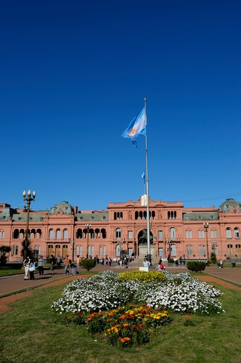 Argentina, Buenos Aires, Plaza De Mayo, Casa Rosada (The Pink House), Government Building : Stock Photo