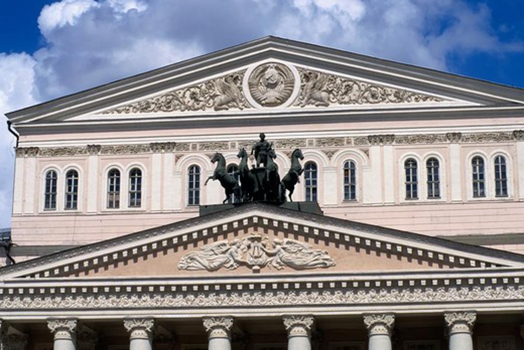 Russia, Moscow, Teatralnaya Square, Bolshoi Theatre, Detail : Stock Photo
