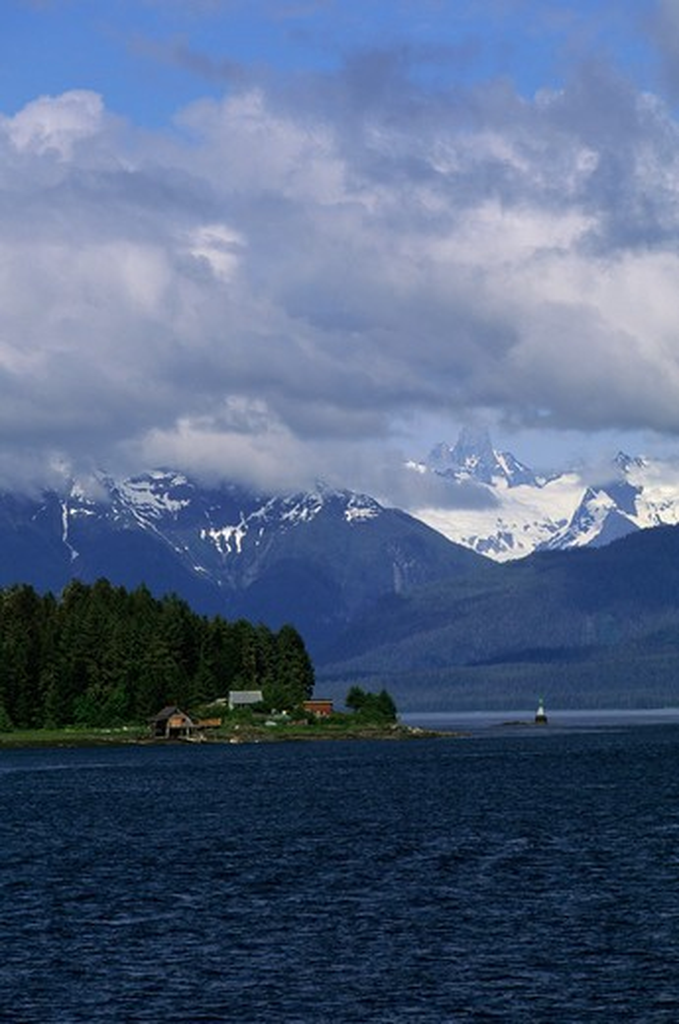 Usa, Alaska, Inside Passage, Wrangell Narrows, Near St. Petersburg : Stock Photo