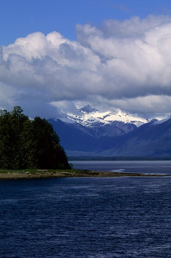 Usa, Alaska, Inside Passage, Frederick Sound, Near St. Petersburg : Stock Photo