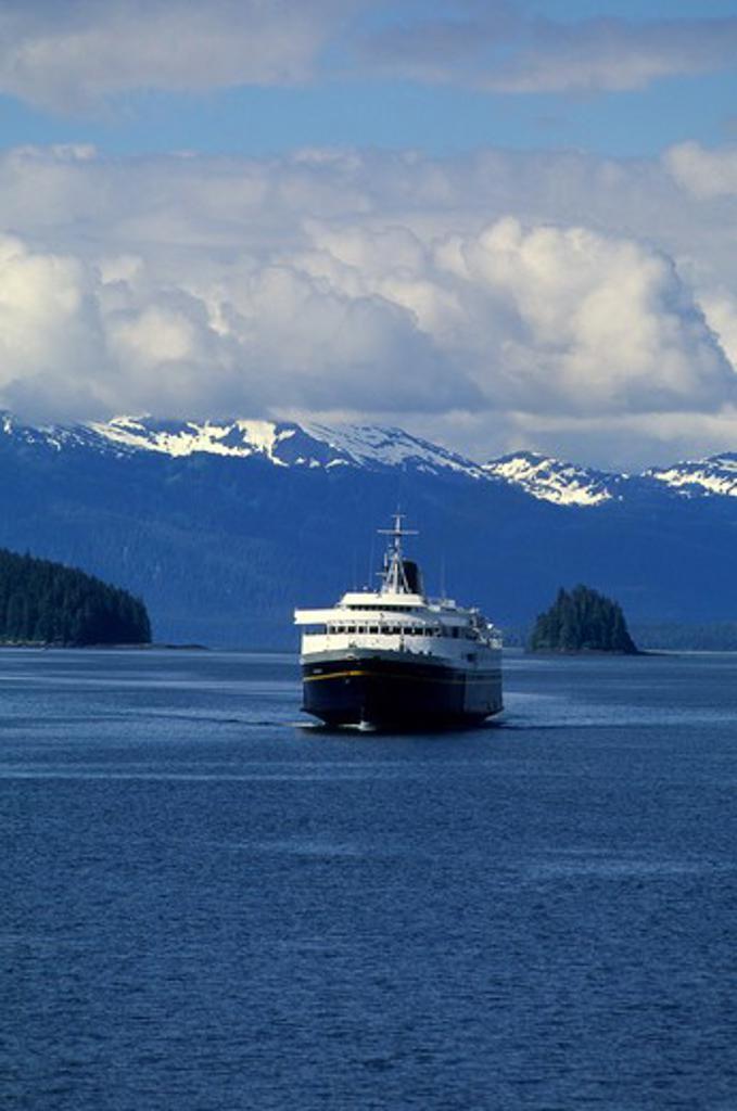 Stock Photo: 4168-3300 Usa, Alaska, Inside Passage, Frederick Sound, Near St. Petersburg, Alaskan State Ferry, M/V Matanuska
